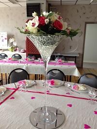 bouquet vase martini